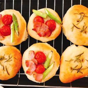 夏野菜でフォカッチャ作り