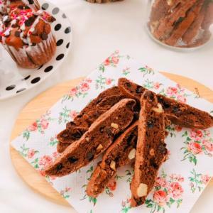 お土産のチョコビスコッティが美味しくて、バレンタインレッスンお願いします!嬉しいお申し込み♡