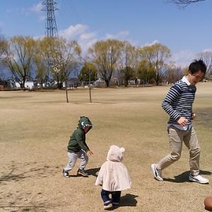 家族そろって安曇野市南部公園へ ♡ 長男3歳9ヶ月・次男11ヶ月