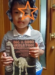 恐竜発掘と本と工作 ☆ 長男3歳11か月
