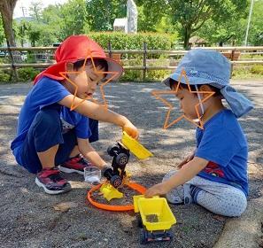続・続『やさいはいきている』じゃがいも編 と、松本市南部公園 ♡5歳・2歳