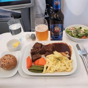 ドイツを感じる機内食に感激(ルフトハンザ航空)