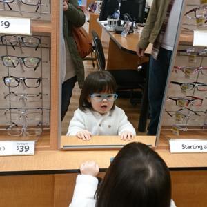2歳でメガネ