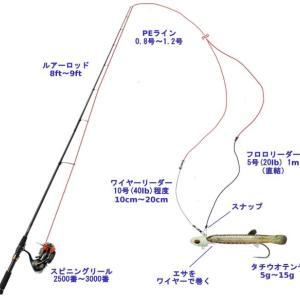 【タチウオ釣り】引き釣りのテンヤ仕掛けと釣り方