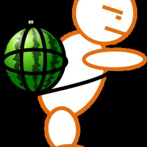 ママチャリが行く!何故かスイカを購入w(埼玉県鶴ヶ島市) 2014.08.17