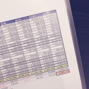 前月から20万円減った手取り額