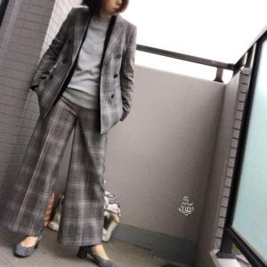 珍しくセットアップで着てみました、と、歩けるパンプス