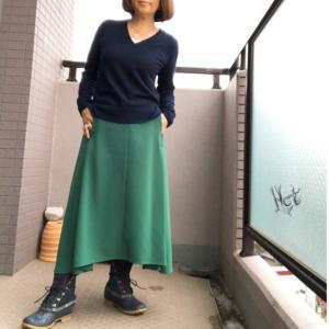 お久しぶりのスカート