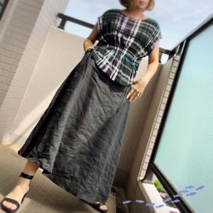 初めてスカートと合わせたブラウス