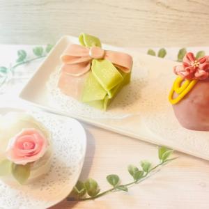 (レポ)見て可愛い!食べて美味しい!褒められ和菓子ケーキ