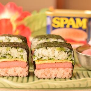 スパム寿司を巻きました^ ^