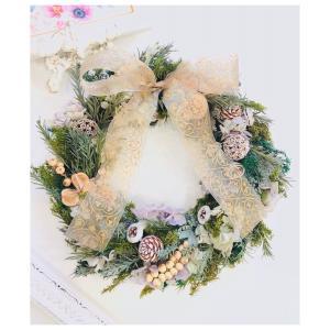 *✻. 本格的なクリスマスリース作りへ .✻*  栃木県 宇都宮市ポーセラーツ ウェディング