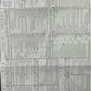 鉄道コレクション27~1945年(昭和20年)8月15日の「東北本線列車運行圖表」
