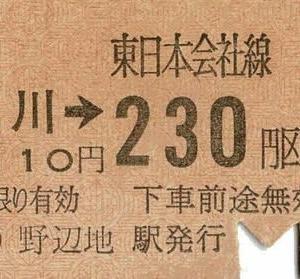 鉄道コレクション33~JR東日本の「きっぷ」その2 清水川駅