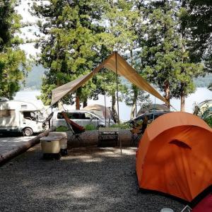 夏の白馬村は劇混み!湖畔キャンプ@青木荘キャンプ場【4年目・15泊目】