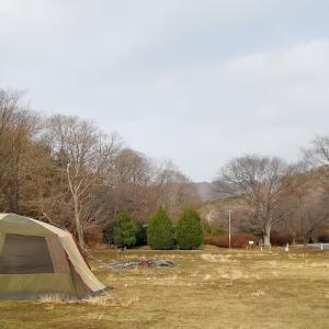 今は閉鎖中の古法華自然公園キャンプ場でぬくぬくキャンプ【5年目・4泊目】