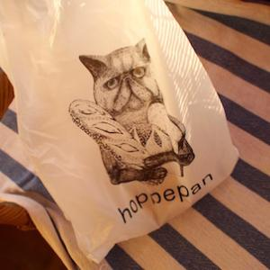 猫の絵がツボなパン屋さん。