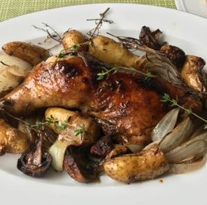 久しぶりにガッツリお肉  ♪骨つきチキンと野菜のオーブン焼き♪