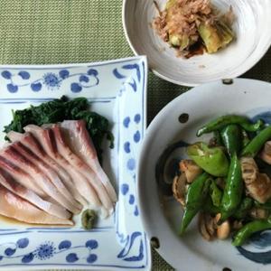 最近三日間の夕食 ♪遅まきながら夏野菜を使って♪