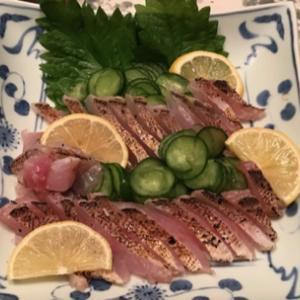 赤甘鯛のお刺身・アカハタの中華風蒸し物・骨せんべい