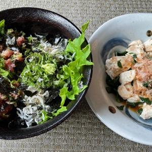 最近二日間の食卓 ♪ネバネバ野菜の活躍♪