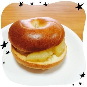 りんごのベーグルサンド