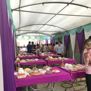 ハノイ市郊外(西部)の結婚式の料理のご紹介!