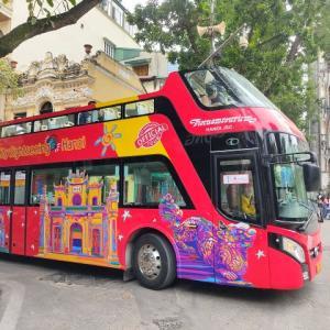 2階建てバスも、ちゃんと営業再開しているようですよ!