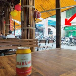 公衆トイレも減っている?ドンスアン市場でスッキリしたあとにビール(^o^;)