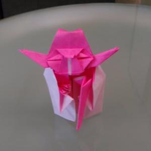 魔法にかけられたようになぜか・・・(千人ヨーダ(yoda)折り紙チャレンジ4年6月)