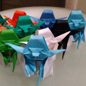 月一回10体折れれば・・・(千人ヨーダ(yoda)折り紙チャレンジ5年1月)