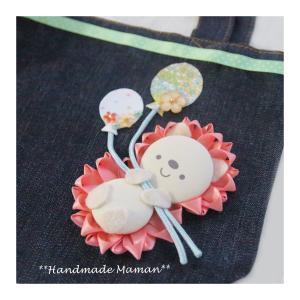 【講師レッスン】可愛いピンクのハリネズミロゼットバッグ