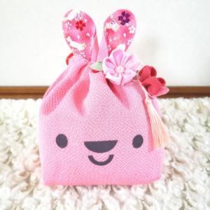 【生徒様作品】可愛いピンクのウサギ巾着 手作りキット