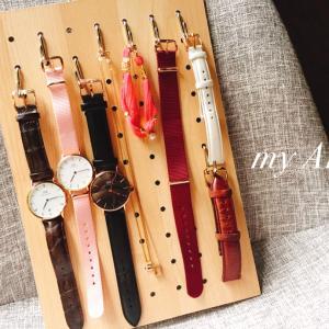 DAISOで時計をディスプレイしてみたお。