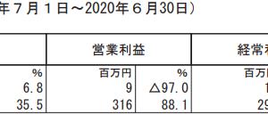 NATTY SWANKY【2020年6月期4Q】