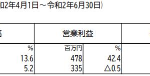 オーシャンシステム【2021年3月期1Q】
