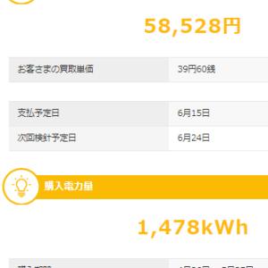 5月も太陽光発電で儲けさせていただきました。