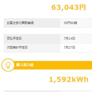 6月も太陽光発電で儲けさせていただきました。