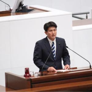 県議会での初の一般質問