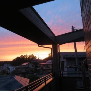 2階の夕焼け