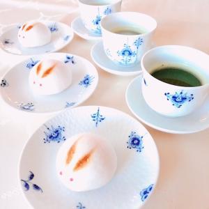 うさぎの上用饅頭でお茶の時間。。♪ へぎそばランチ@小嶋屋♪