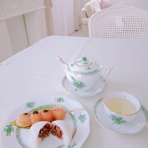 ルピシア 白桃煎茶でお茶の時間。。♪ チューリップが・・!?