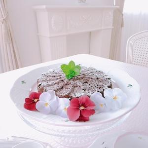 米粉と豆腐のかんたんブラウニーで、teatime。。♡