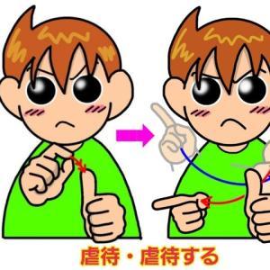 手話単語:1096 【虐待】【虐待する】