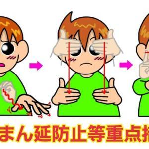 手話単語:1175 【まん延防止等重点措置】