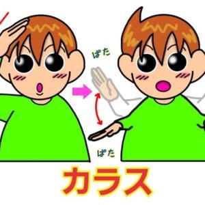 手話単語:1230 【カラス】【からす】【烏】【鴉】