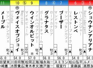ファビュラスギフトは7枠14番から・・日曜・阪神9R・北摂特別