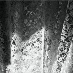 sunlight through the curtain in morning
