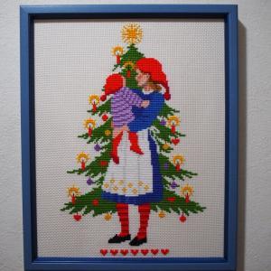 額装 クリスマスMother and Child(5)