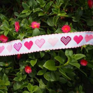 ハートのテープ刺繍タオル(2)